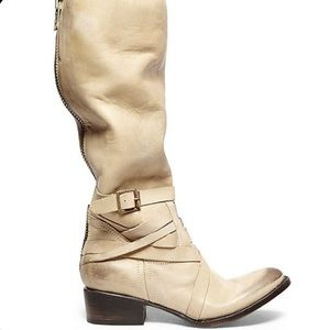 FREEBIRD Oak Cream Leather Tall Boots